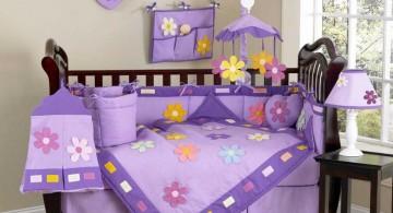 cute baby girl bedding ideas in purple