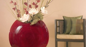 cute floor vase with branches