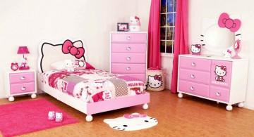 cute girls bedroom ideas in hello kitty theme
