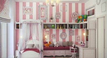 cute girls bedroom ideas with canopied bed