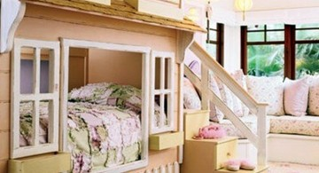 cute girls bedroom ideas with unique bunk beds