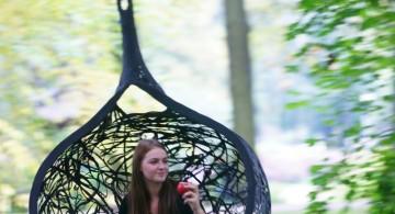 cute pendant bedroom swing chair