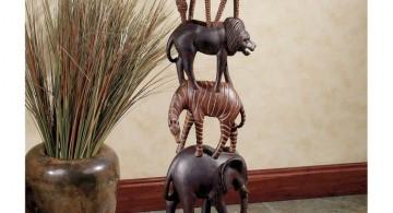 cute safari statue african living room decor