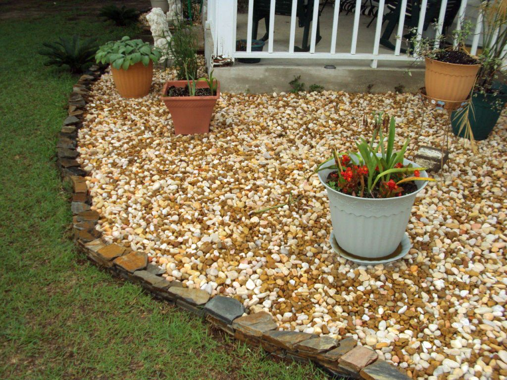 Gallery For Stones Flower Beds