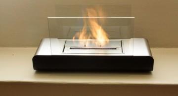 desktop freestanding fireplaces designs