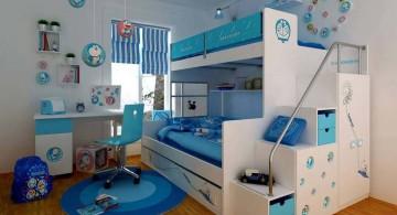 doraemon themed funky bunk beds