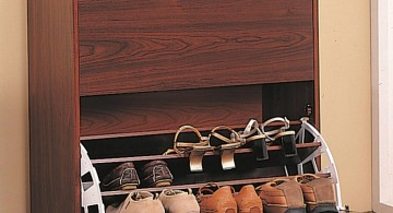 drawer and flip shelf shoe cabinets design ideas