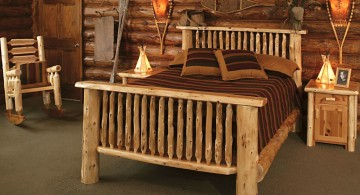 earth toned cabin bedroom decorating ideas