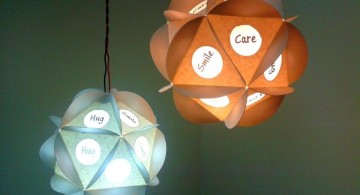 easy diy pendant lighting ideas with paper box