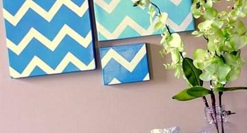 easy geometric wave pattern diy bedroom art