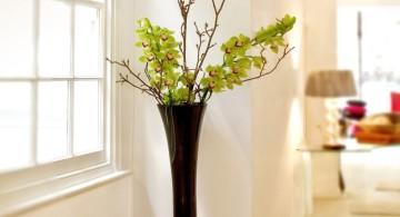 elegant floor vase with branches