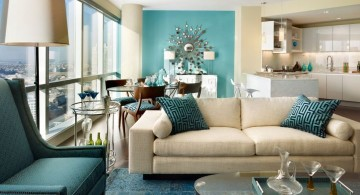 elegant turquoise living room