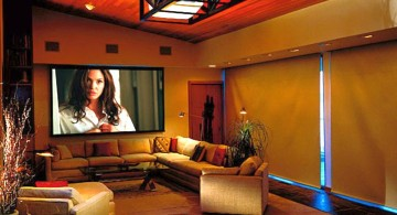 entertainment room for narrow space