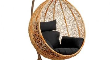 fake hanging modern papasan chair