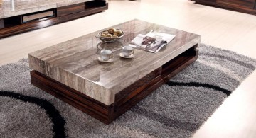 faux marble style wood coffee table designs