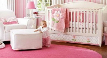 feminine and plush pink baby room ideas