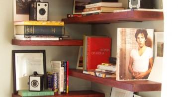 floating shelf decorating ideas for the corner