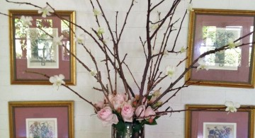 floor vase with branches