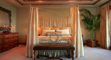 four posts bed with curtains tuscan style bedroom furniture