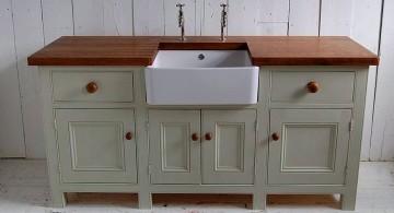 freestanding kitchen sinks in white