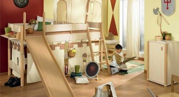 funky bunk beds in medieval theme