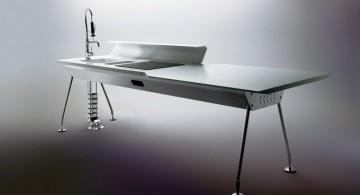 futuristic minimalist freestanding kitchen sinks