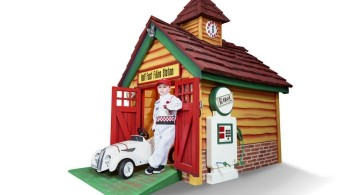 gas station luxury outdoor playhouse