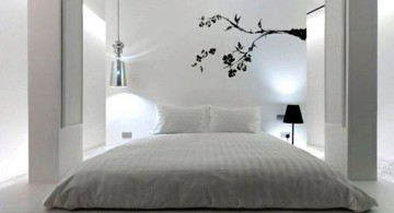 gorgeous zen bedroom ideas in grey and white