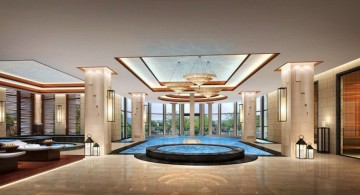 grand indoor swimming pool designs for hotels