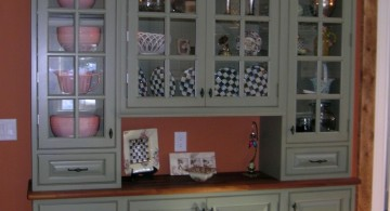 green and clear glass ideas for cabinet doors