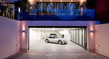 half basement modern garage designs and inspiration