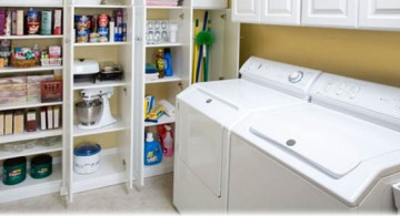 half pantry small laundry room storage solutions