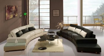 hang out room ideas with monochrome sofas