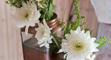 hanging flower vase in square vases