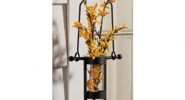 hanging flower vase industrial