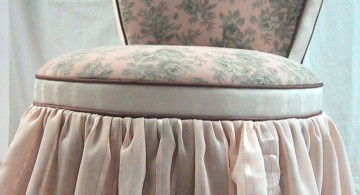 heart shaped vanity chair with skirt