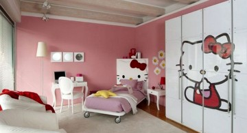 hello kity girls bedroom designs