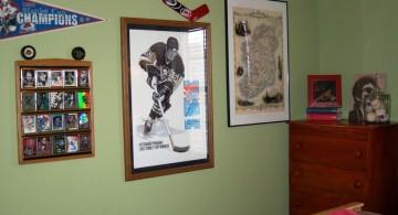 hockey bedrooms with memorabilias