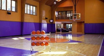 indoor home basketball courts in summer houses