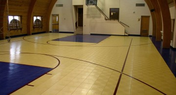 indoor home basketball courts with direct access to the house