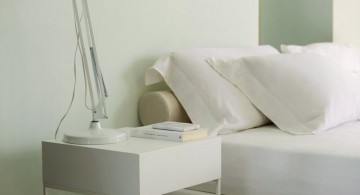 industrial modern nightstands white