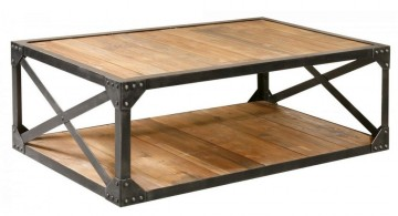 industrial wood coffee table designs with open drawer