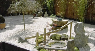 japanese garden designs for small spaces with bamboo fountain