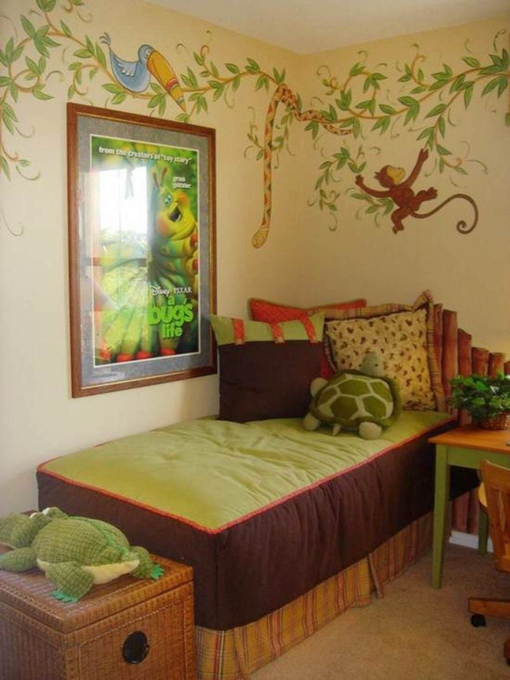 forest themed bedroom jungle themed rooms paint ideas 11549