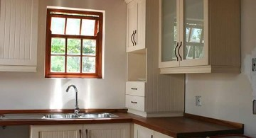 kitchen with pendant lamp and low ceilinged and stand alone kitchen sink