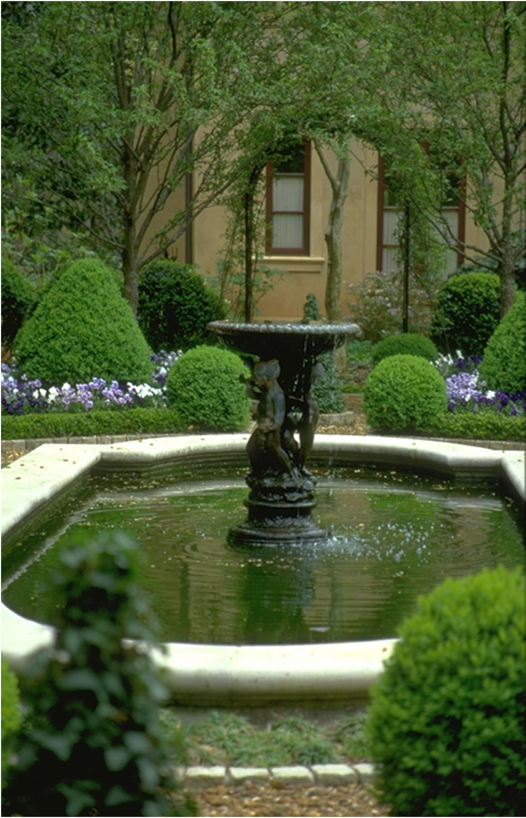 landscape fountain design ideas for side yard