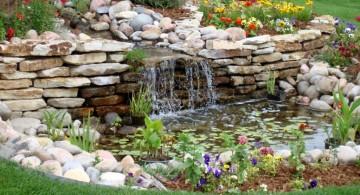 landscape fountain design ideas for wide lawn