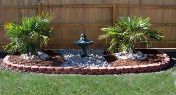 landscape fountain design ideas good for side lawn or limited space