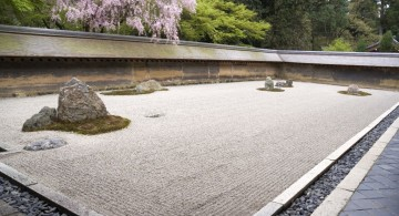 landscaping designs with big rocks for Zen style garden