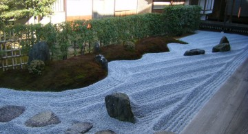landscaping designs with big rocks in Japanese style garden